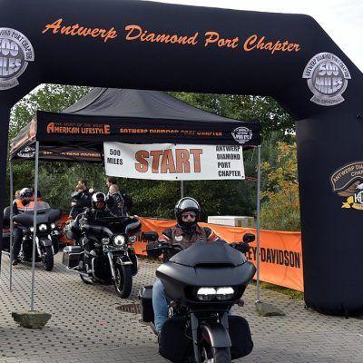 Boog 6x4m opblaasbaar Antwerp Diamond port chapter met interne blower