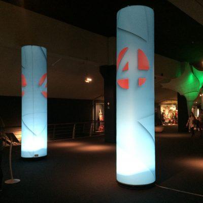 Opblaasbare zuilen 4m met interne verlichting