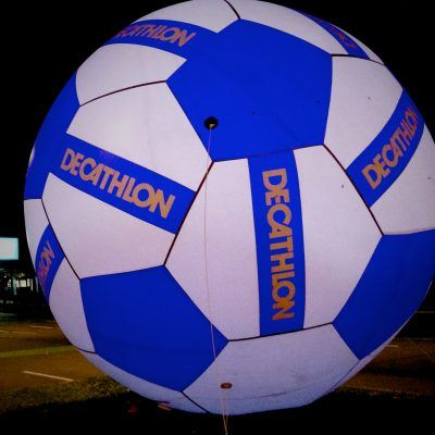Giant inflatable ball Decathlon 6M with inner light