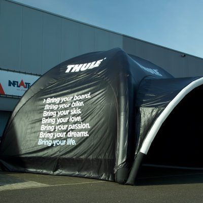 Airtight tent inflatable 6x6m Thule with full colour printed walls