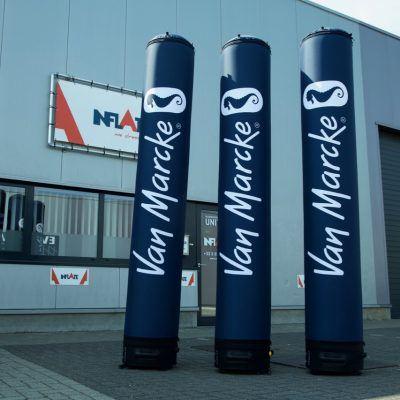 Luchtdichte zuilen Van Marcke 2,8m voorzien van afneembare covers