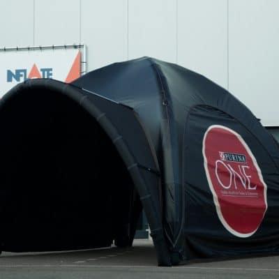 Luchtdichte tent met uitneembare koepel PURINA 3x3m